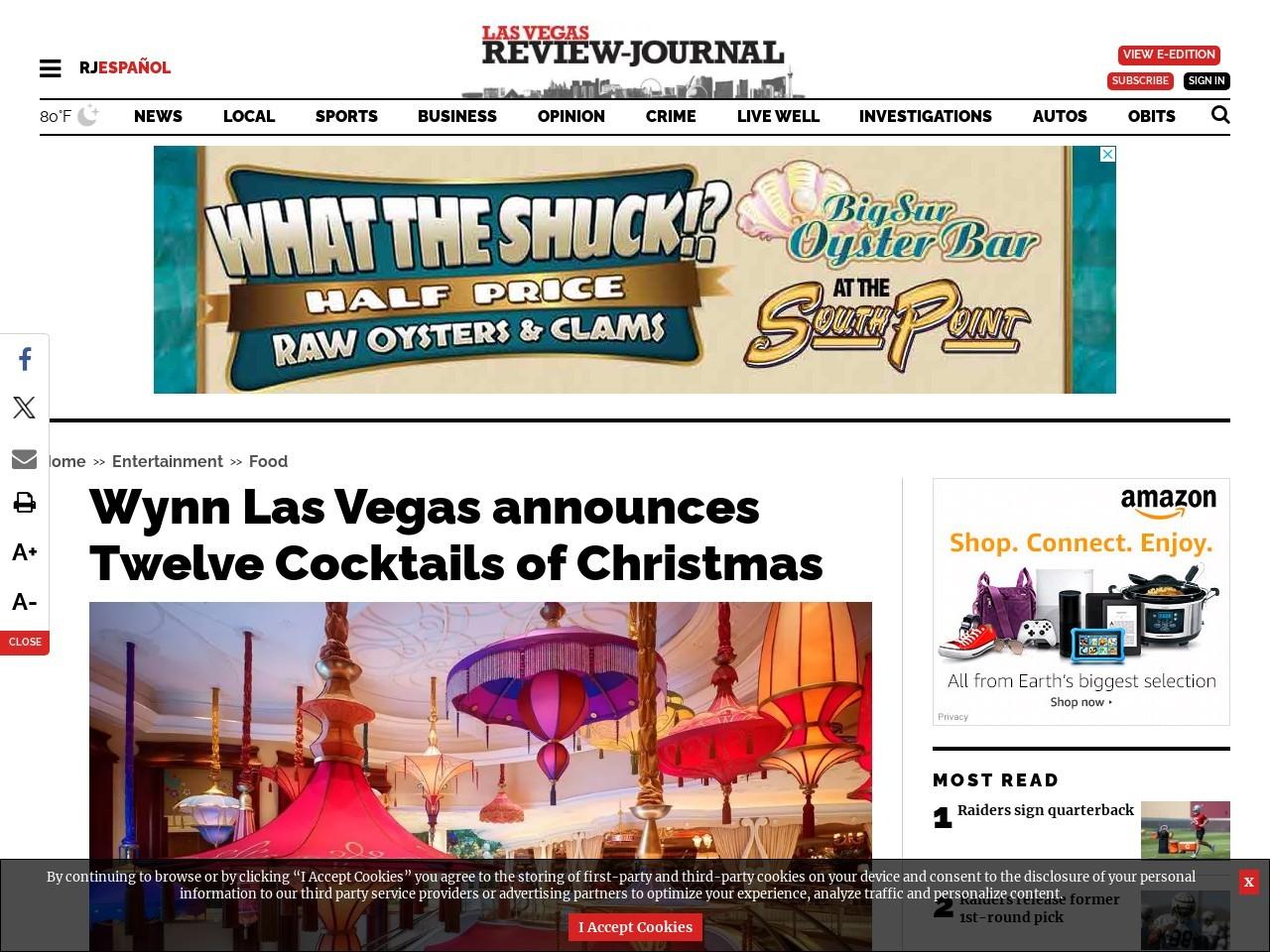 Wynn Las Vegas announces Twelve Cocktails of Christmas
