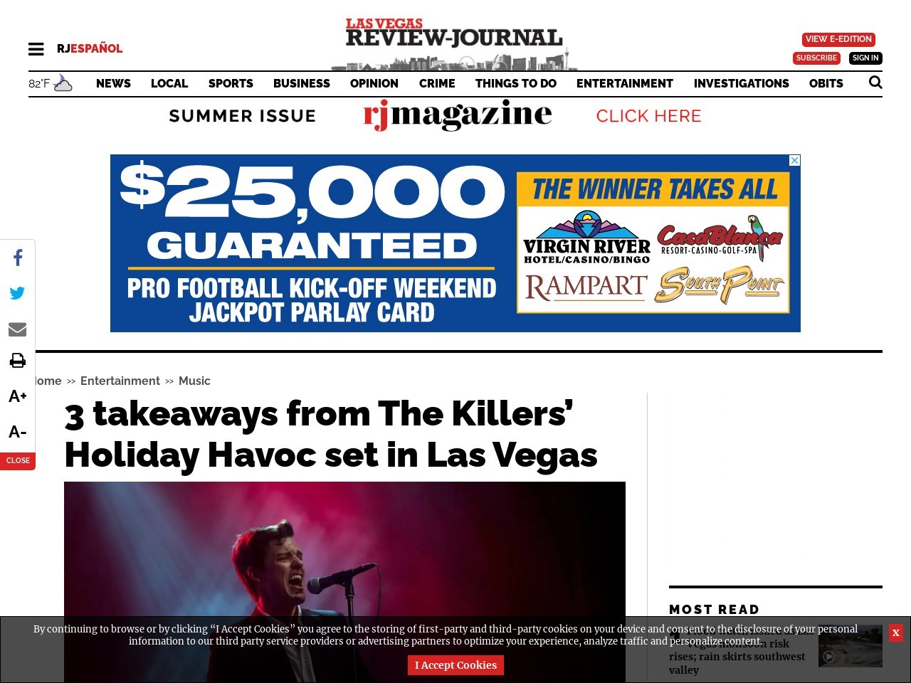 3 takeaways from The Killers' Holiday Havoc set in Las Vegas