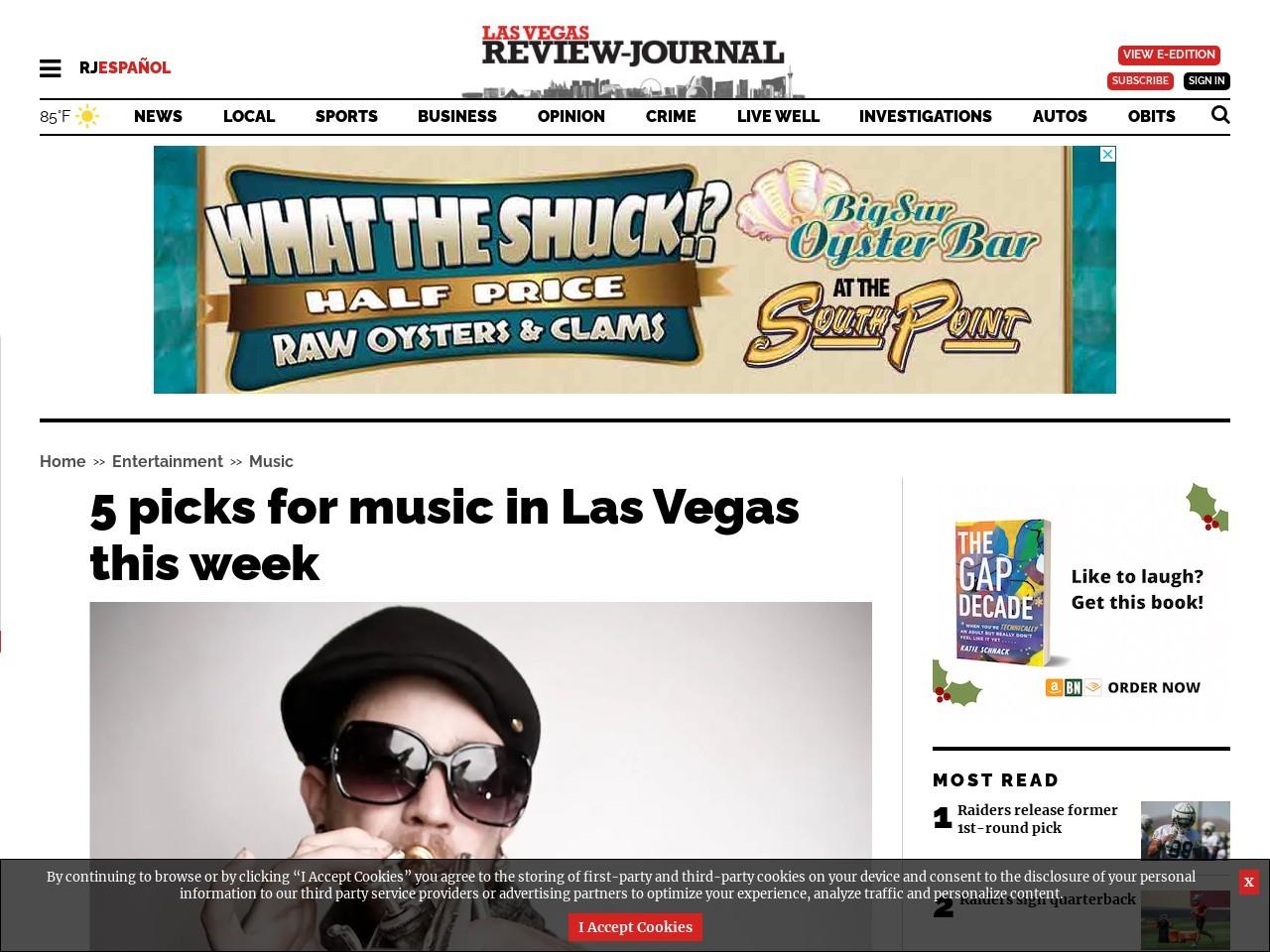 5 picks for music in Las Vegas this week