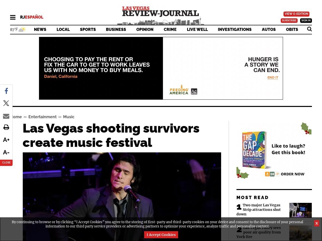 Las Vegas shooting survivors create music festival