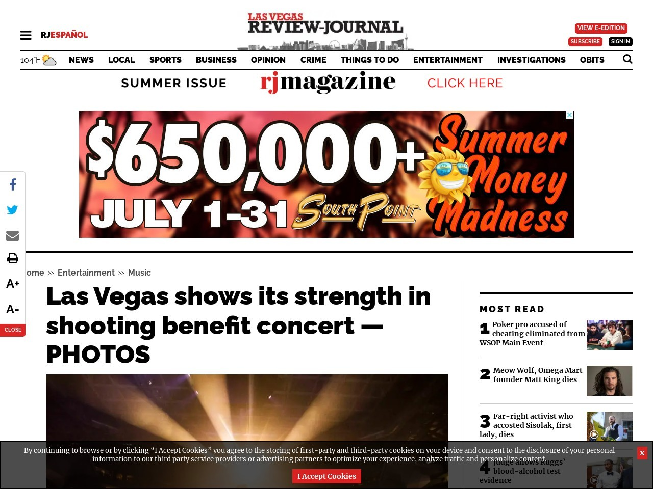 Las Vegas shows its strength in shooting benefit concert — PHOTOS