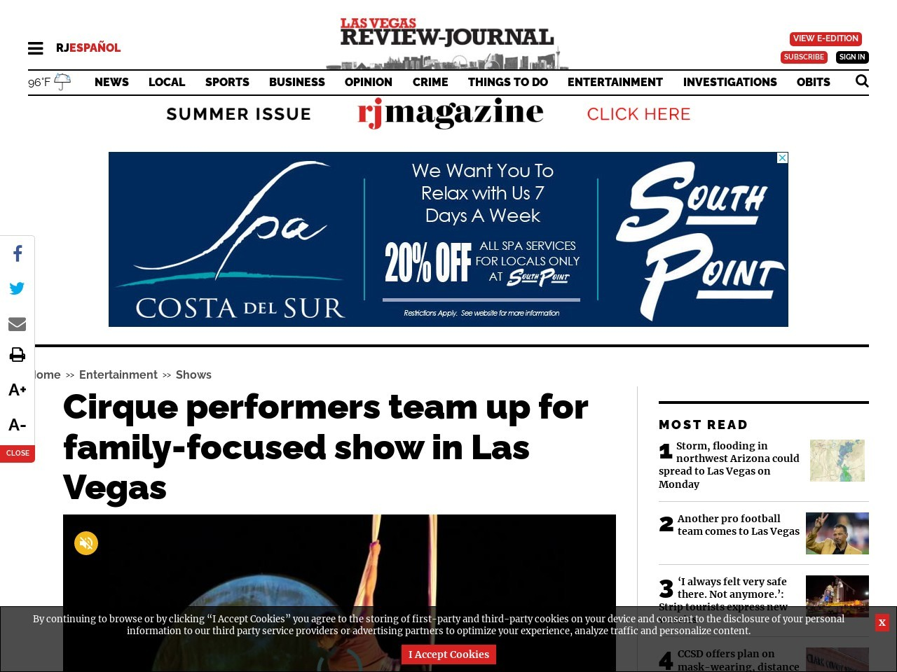 Cirque performers team up for family-focused show in Las Vegas