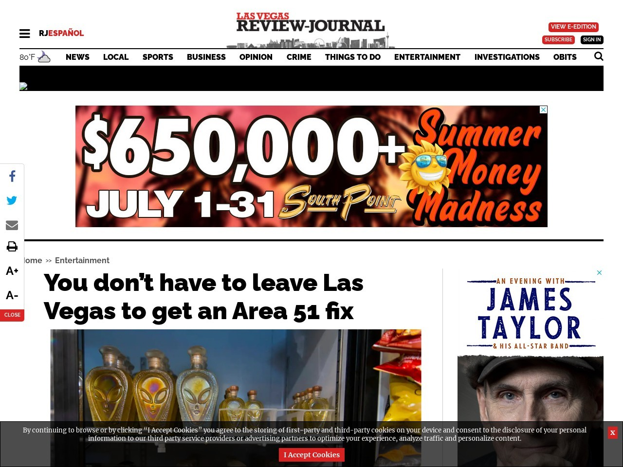 You don't have to leave Las Vegas to get an Area 51 fix