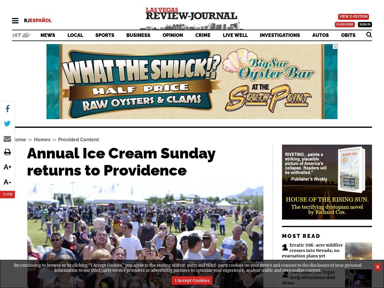 Annual Ice Cream Sunday returns to Providence