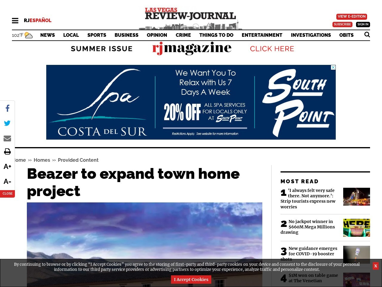 Beazer to expand town home project