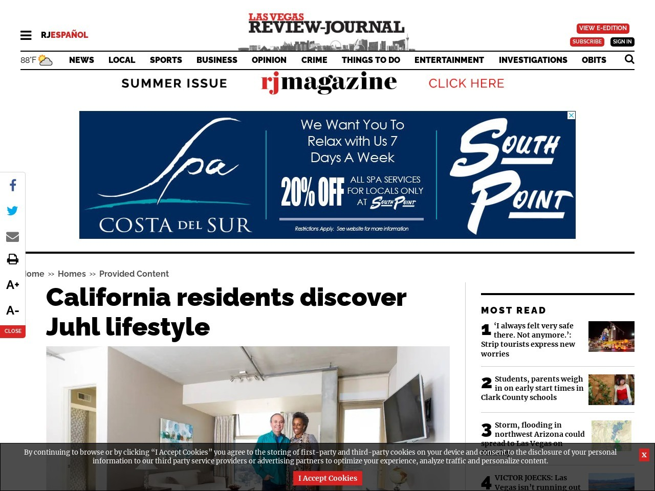 California residents discover Juhl lifestyle