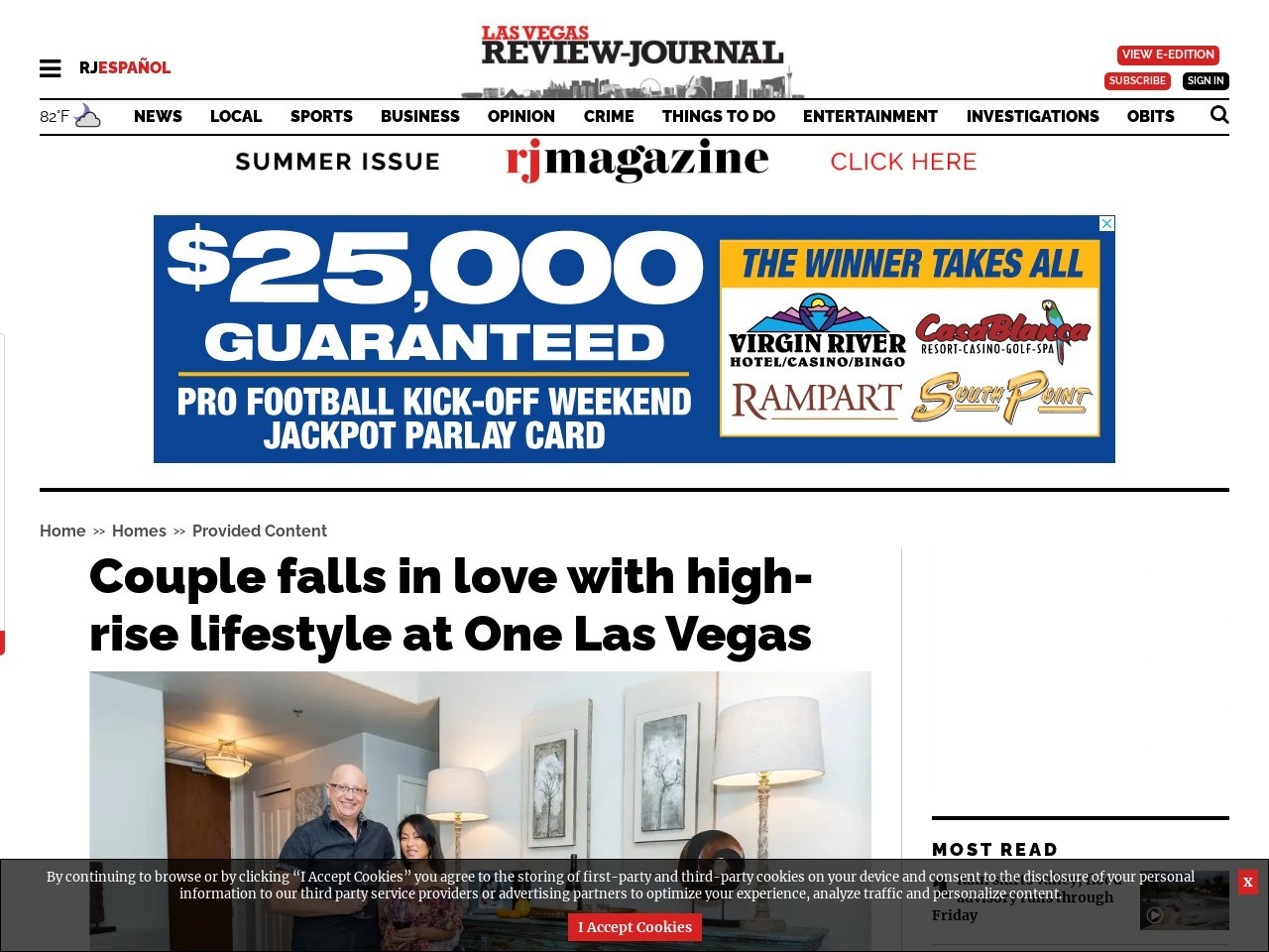 Couple falls in love with high-rise lifestyle at One Las Vegas