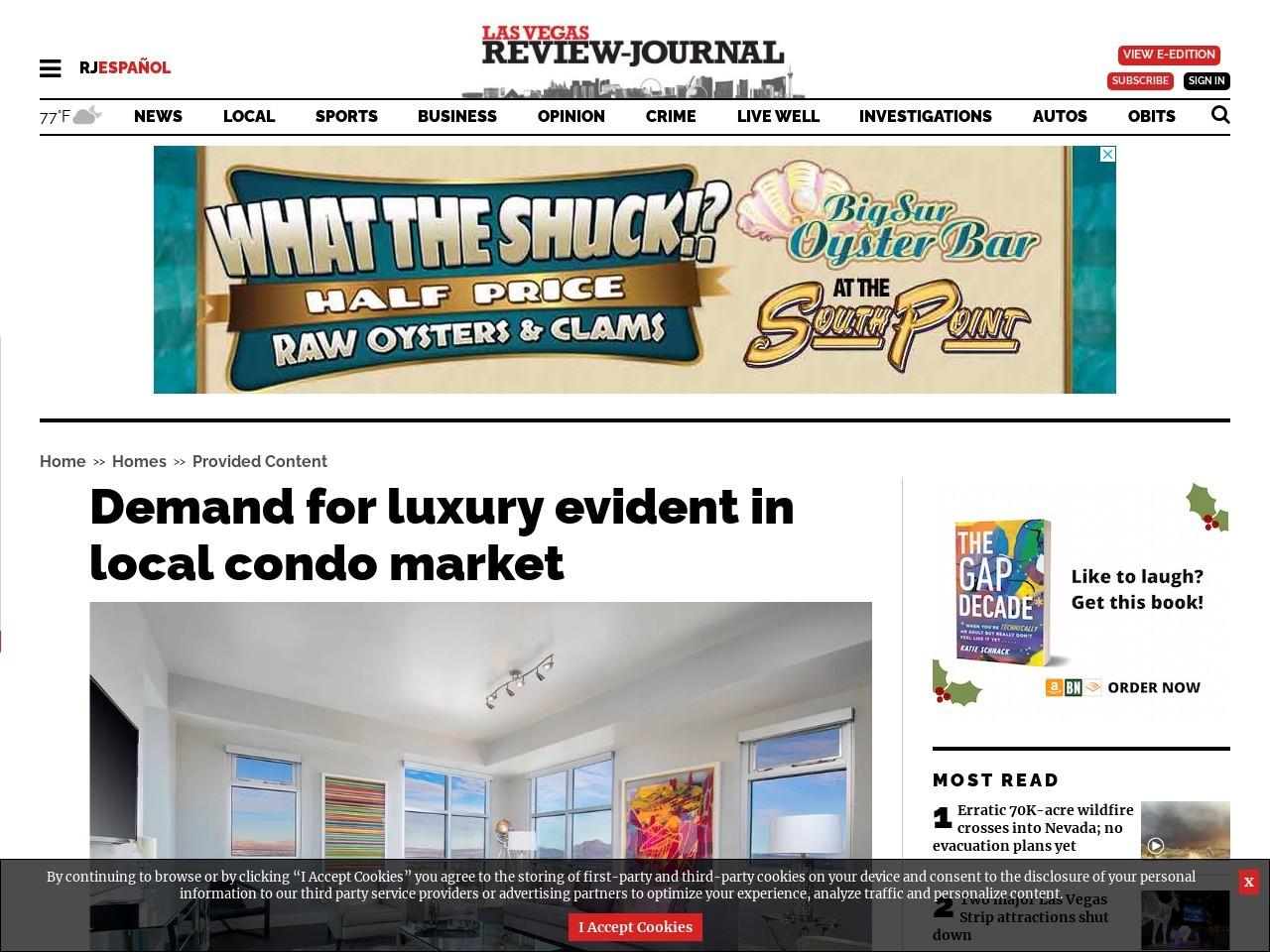 Demand for luxury evident in local condo market