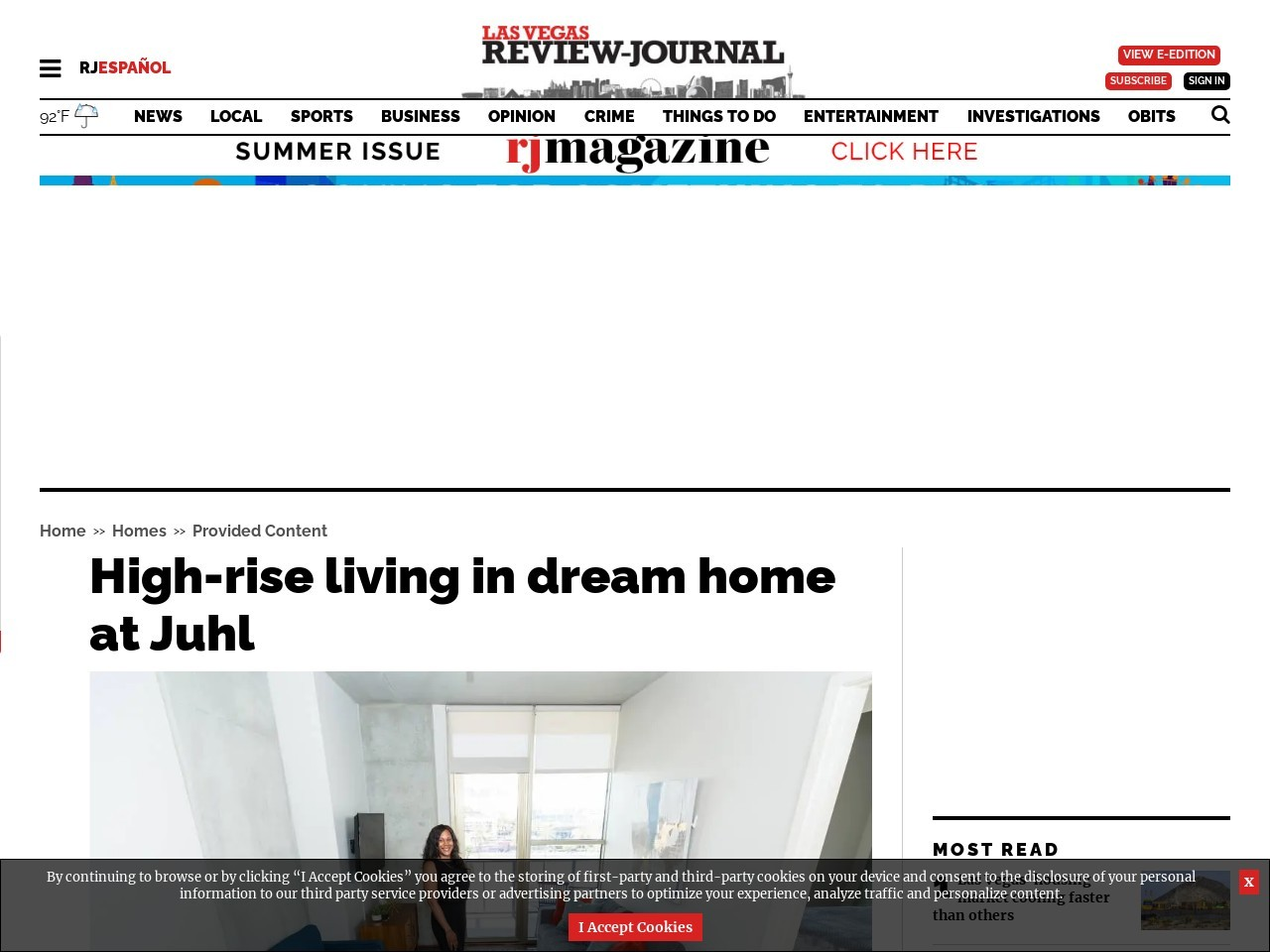 High-rise living in dream home at Juhl