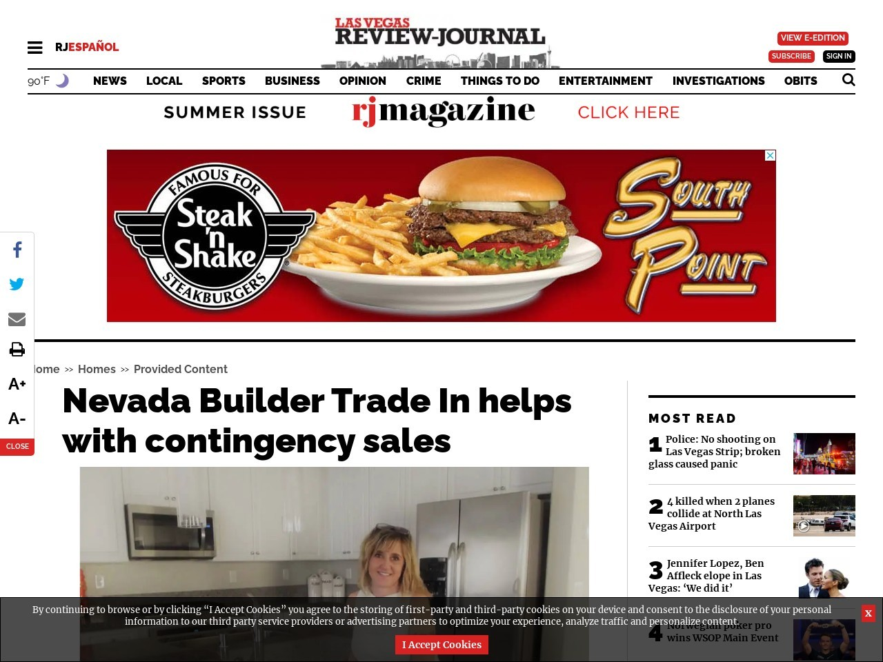 Nevada Builder Trade In helps with contingency sales