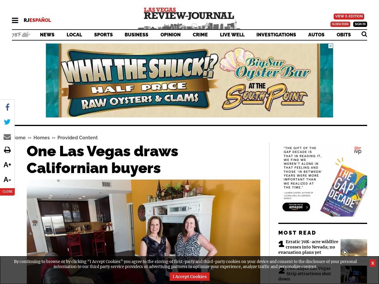 One Las Vegas draws Californian buyers