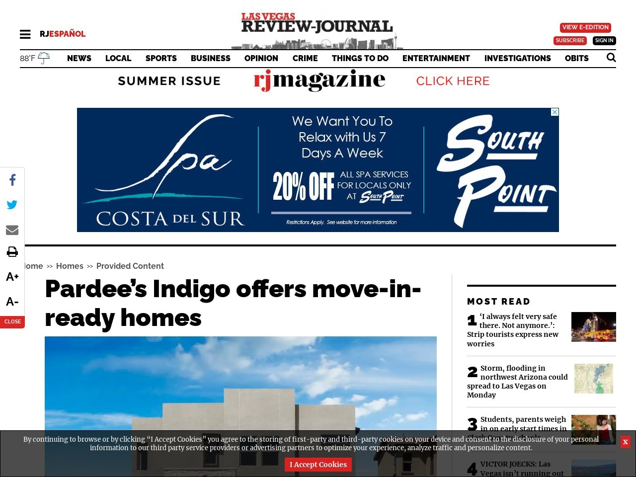 Pardee's Indigo offers move-in-ready homes