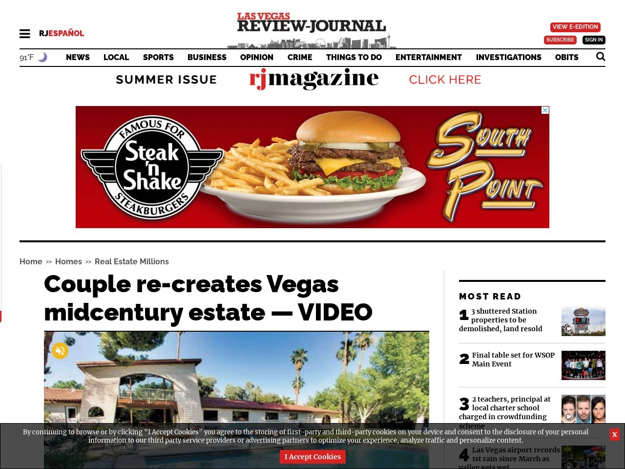 Couple re-creates Vegas midcentury estate — VIDEO