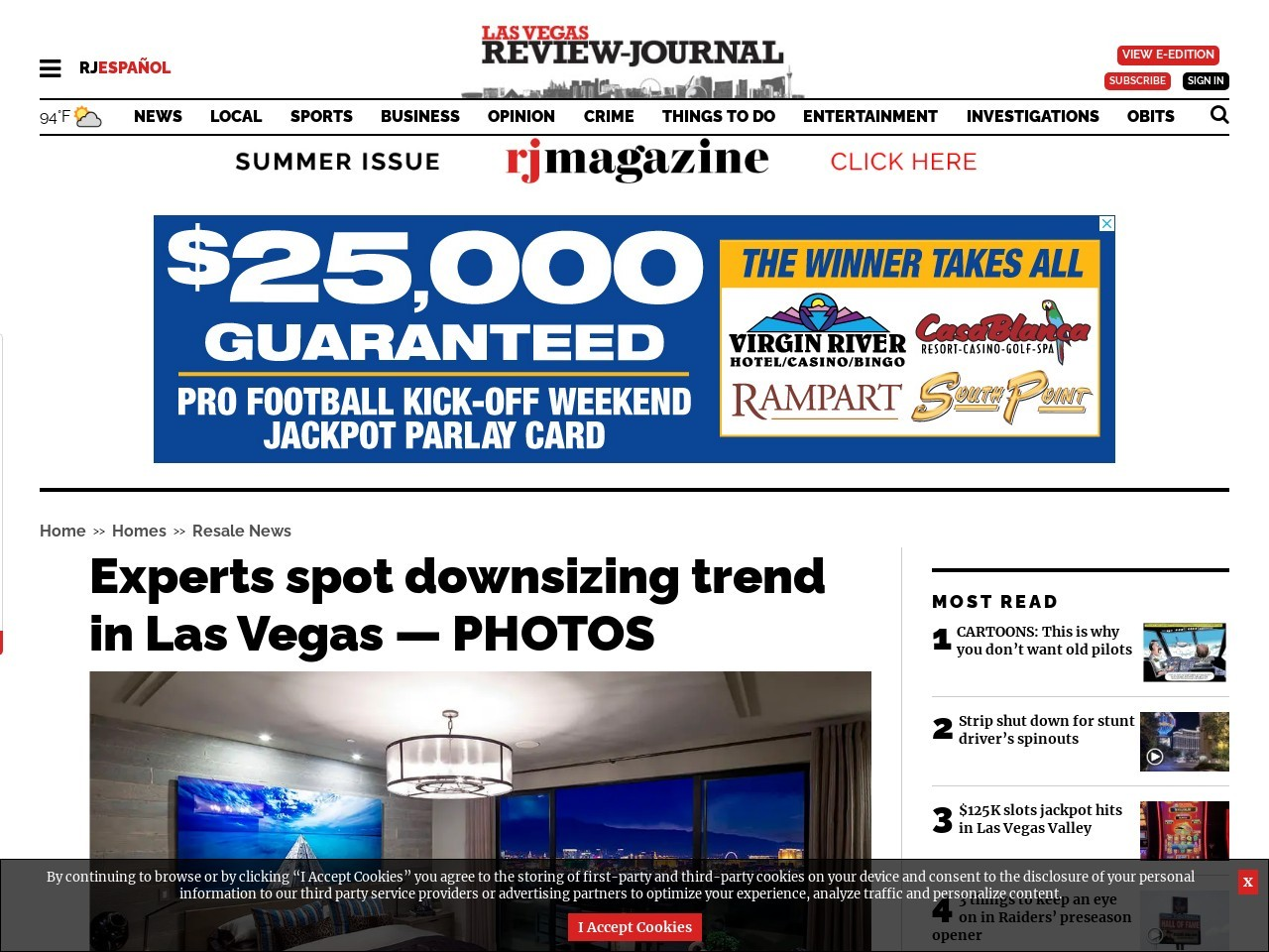 Experts spot downsizing trend in Vegas