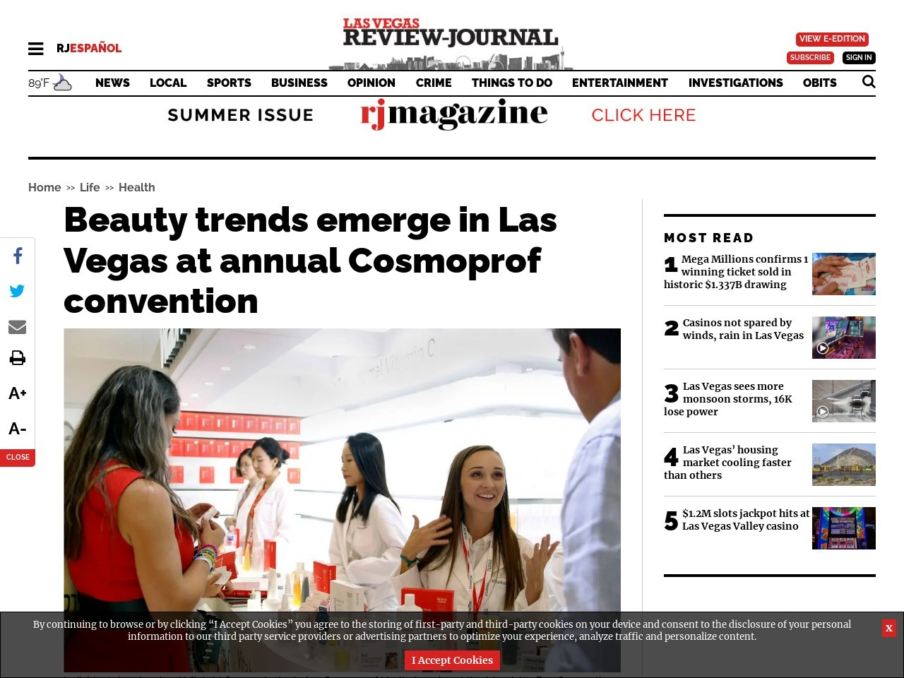Beauty trends emerge in Las Vegas at annual Cosmoprof convention