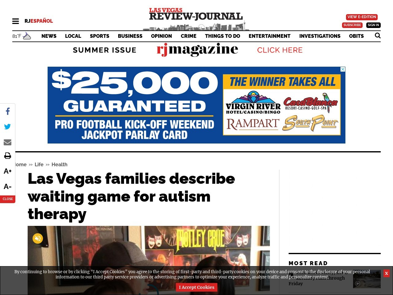 Las Vegas families describe waiting game for autism therapy