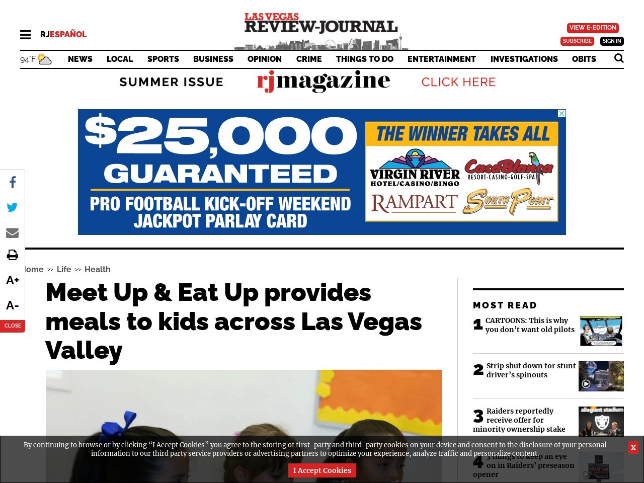 Meet Up & Eat Up provides meals to kids across the Las Vegas Valley