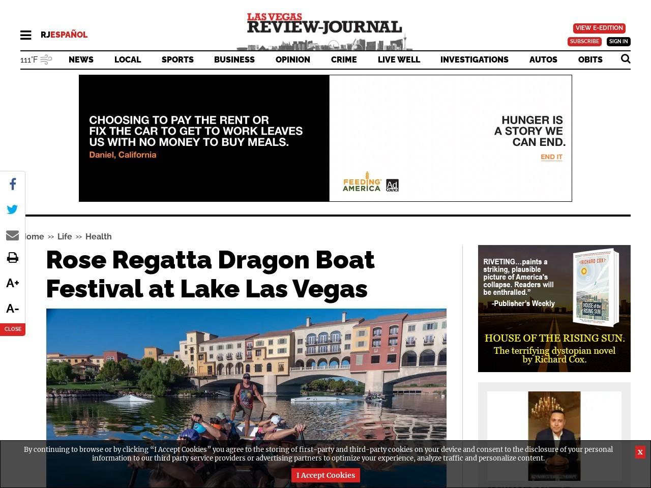 Rose Regatta Dragon Boat Festival at Lake Las Vegas