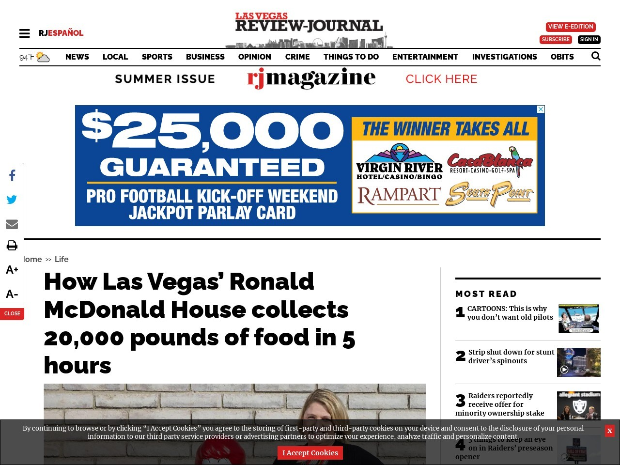 How Las Vegas' Ronald McDonald House collects 20,000 pounds of food in 5 hours
