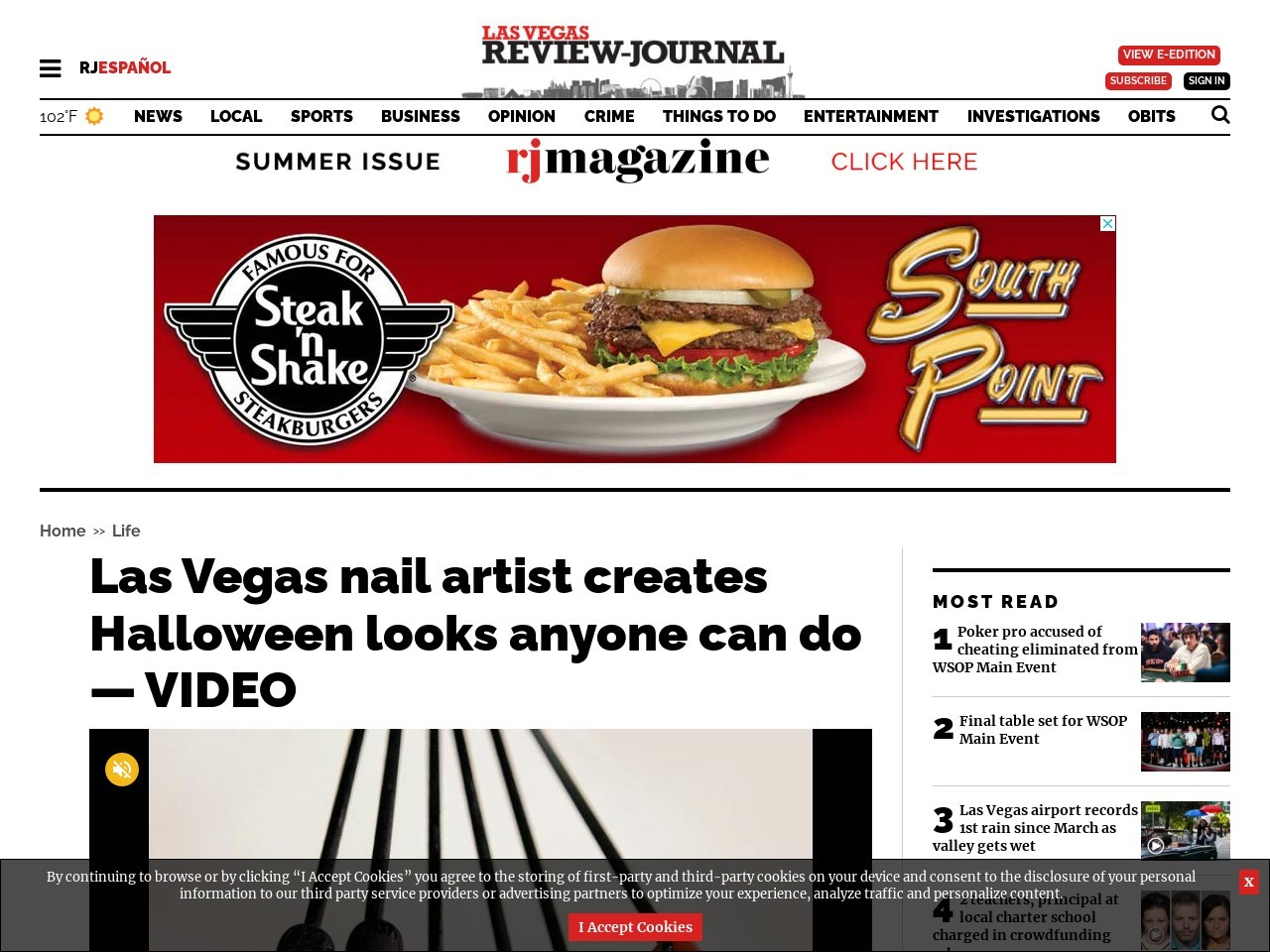 Las Vegas nail artist creates Halloween looks anyone can do — VIDEO