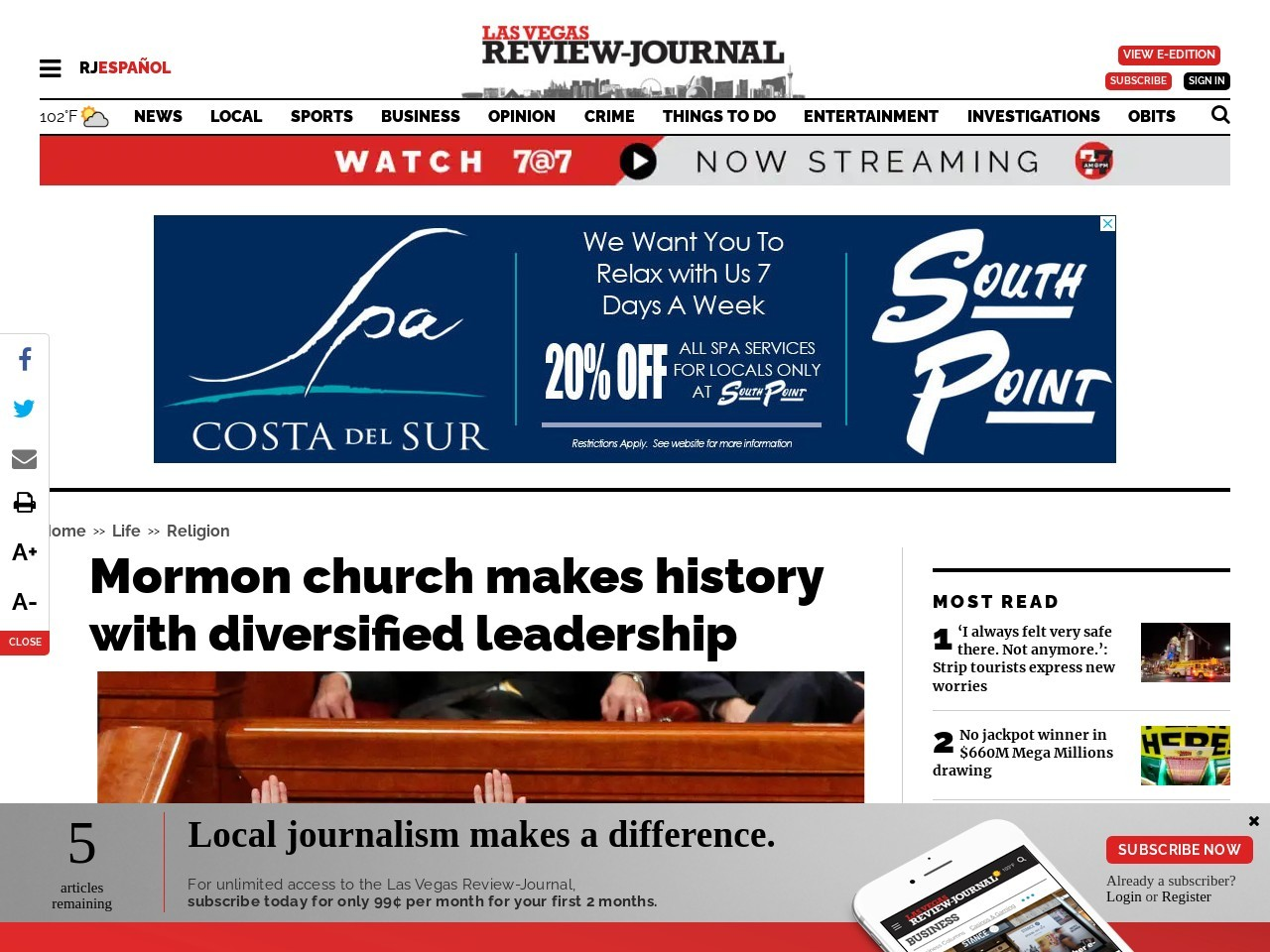 Mormon church makes history with diversified leadership