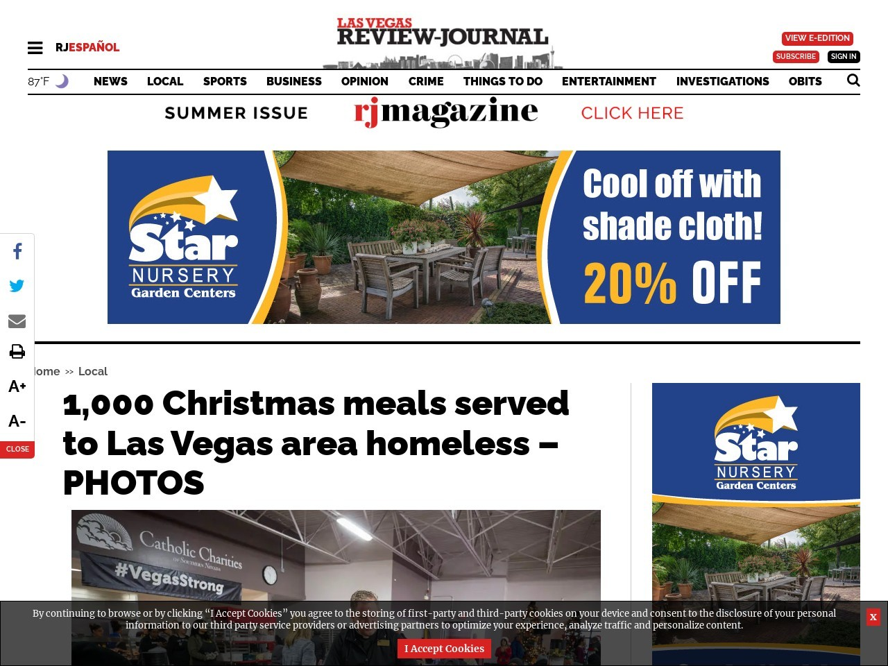 1,000 Christmas meals served to Las Vegas area homeless – PHOTOS