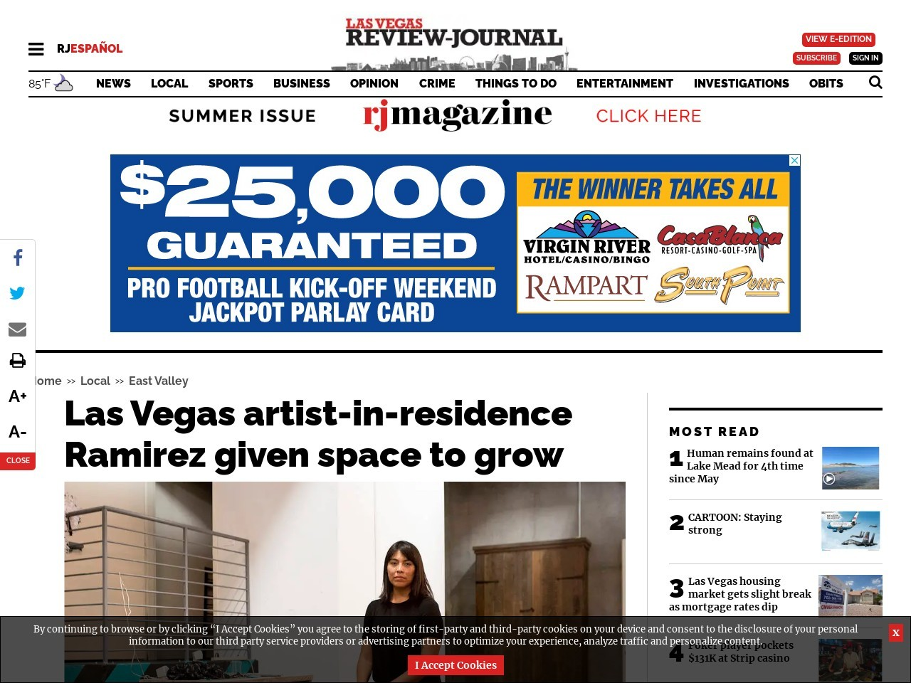 Las Vegas artist-in-residence Ramirez given space to grow