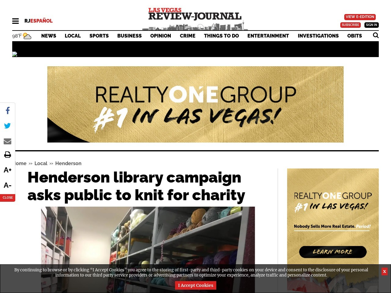 Henderson library campaign asks public to knit for charity