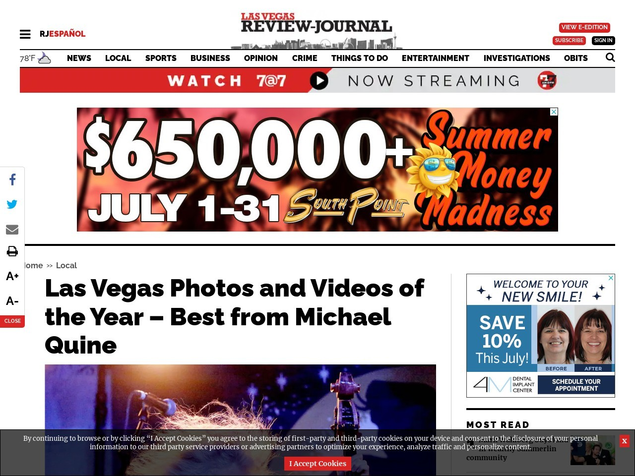 Las Vegas Photos and Videos of the Year – Best from Michael Quine