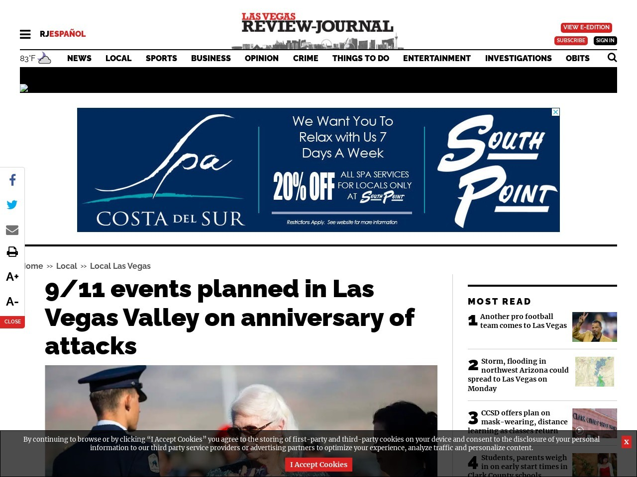 9/11 events planned in Las Vegas Valley on anniversary of attacks