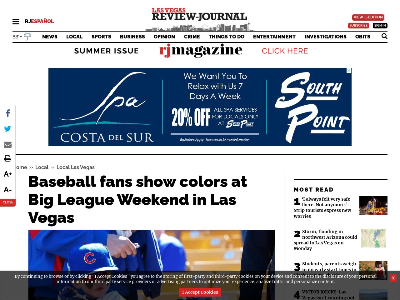 Baseball fans show colors at Big League Weekend in Las Vegas