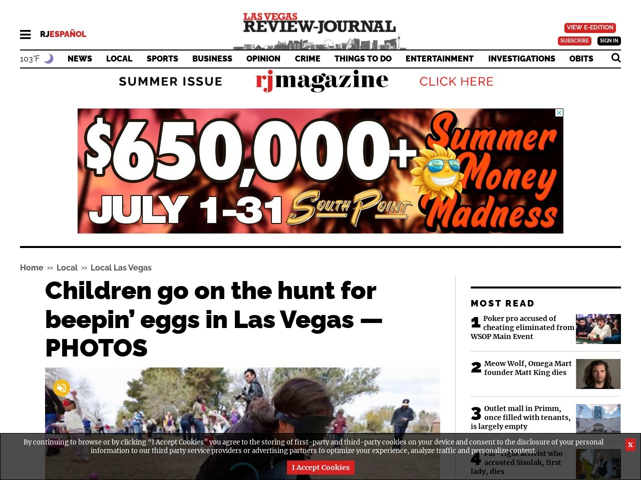 Children go on the hunt for beepin' eggs in Las Vegas — PHOTOS