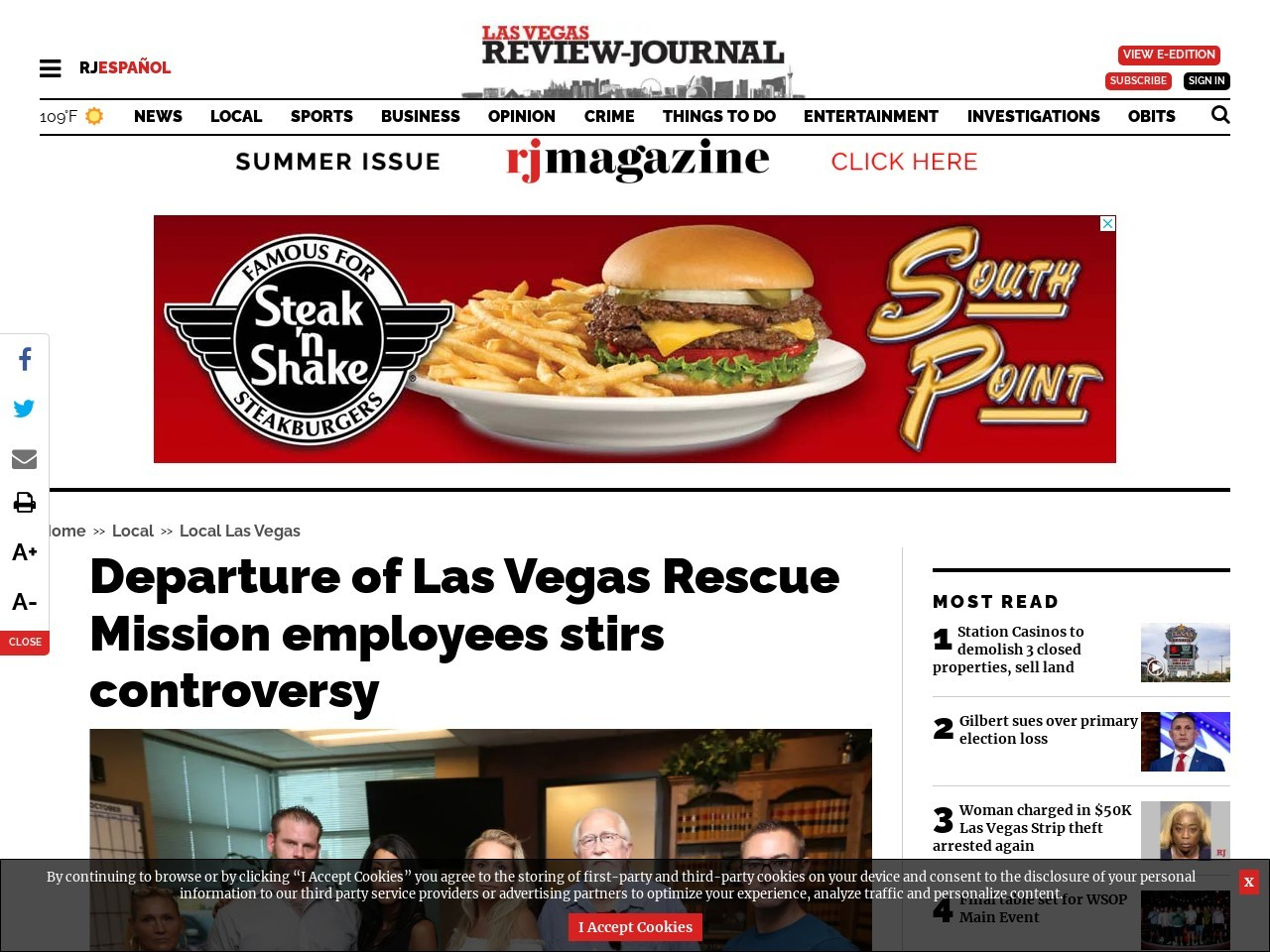 Departure of Las Vegas Rescue Mission employees stirs controversy