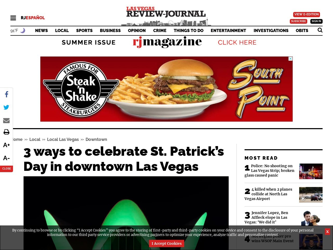 3 ways to celebrate St. Patrick's Day in downtown Las Vegas