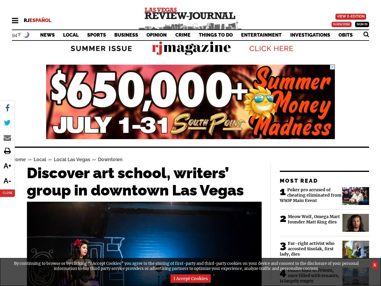 Discover art school, writers' group in downtown Las Vegas