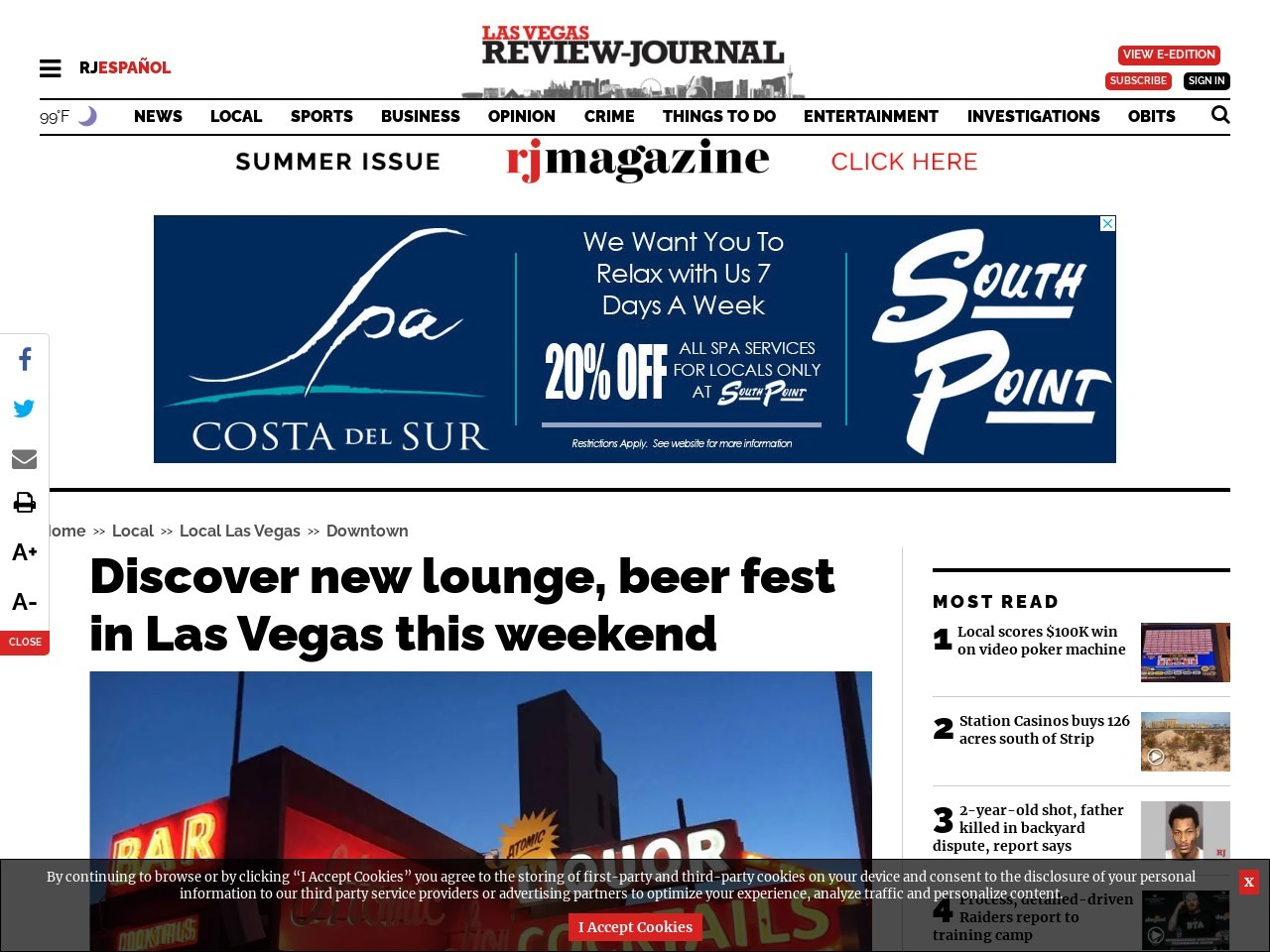 Discover new lounge, beer fest in Las Vegas this weekend