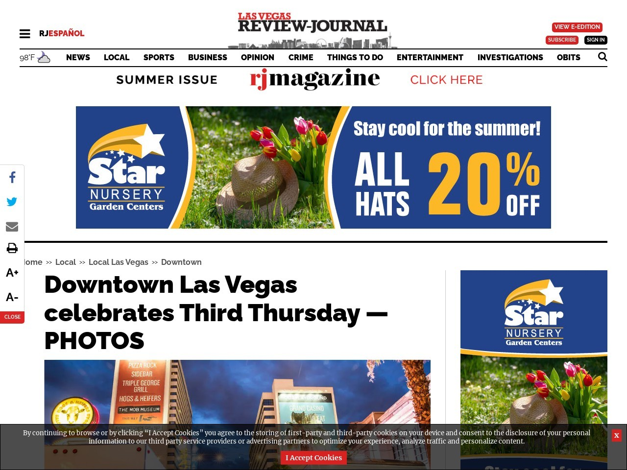 Downtown Las Vegas celebrates Third Thursday — PHOTOS