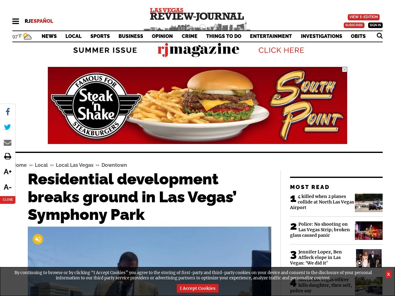 Residential development breaks ground in Las Vegas' Symphony Park