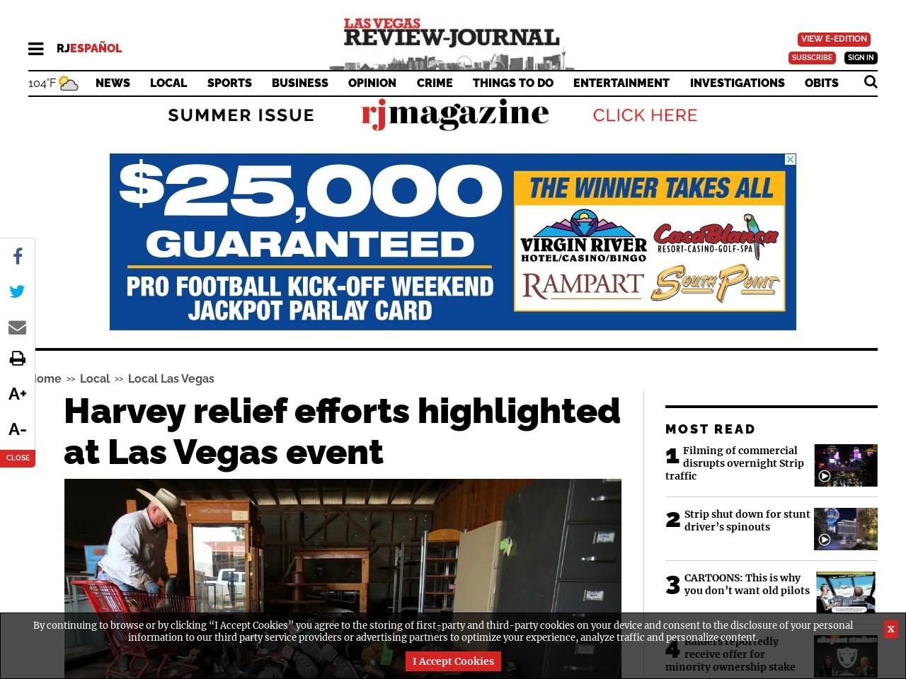 Harvey relief efforts highlighted at Las Vegas event