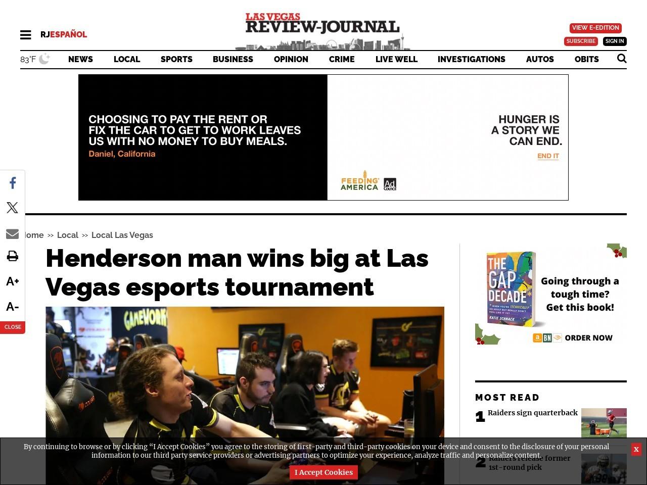 Henderson man wins big at Las Vegas esports tournament