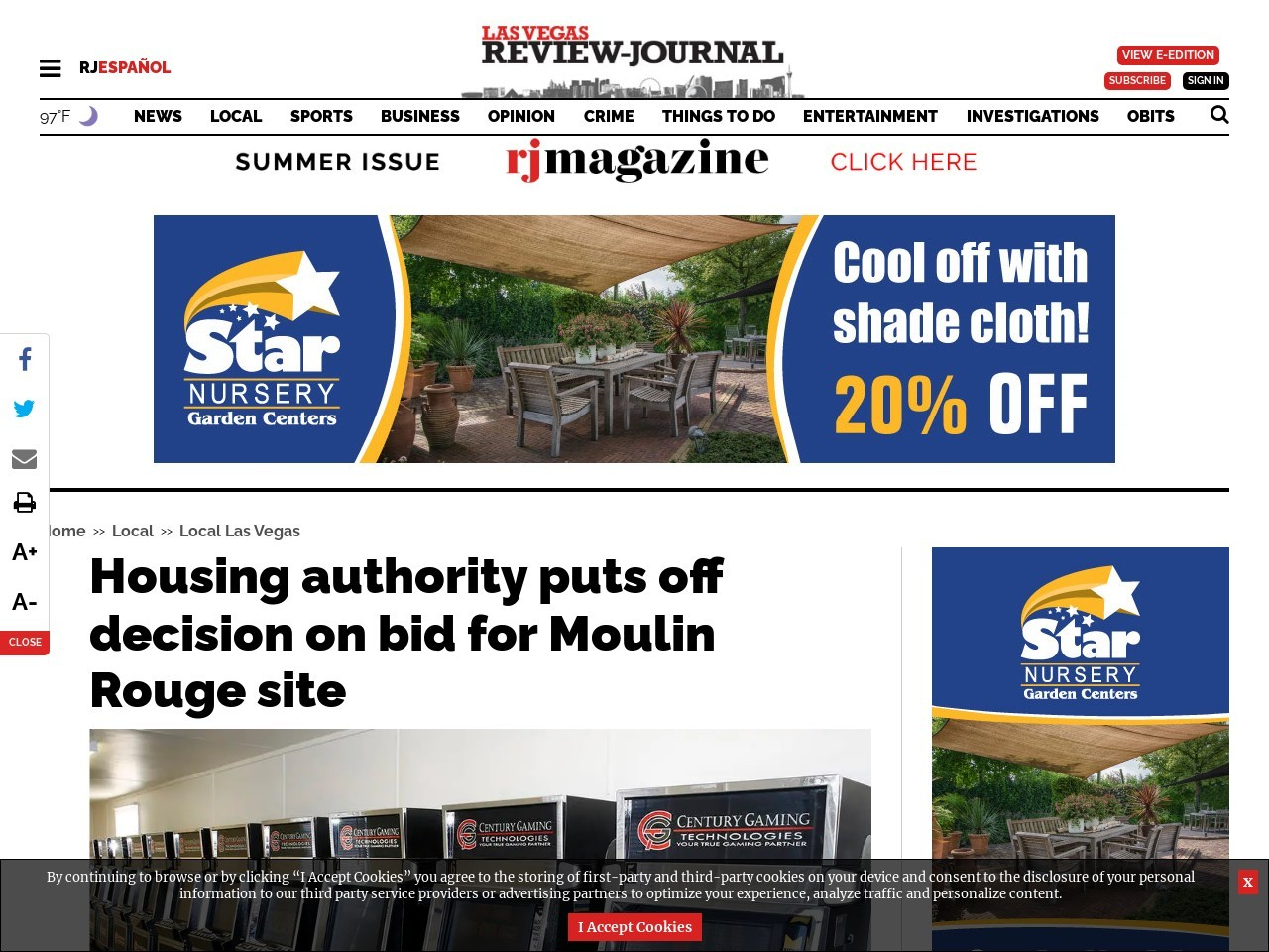 Housing authority puts off decision on bid for Moulin Rouge site