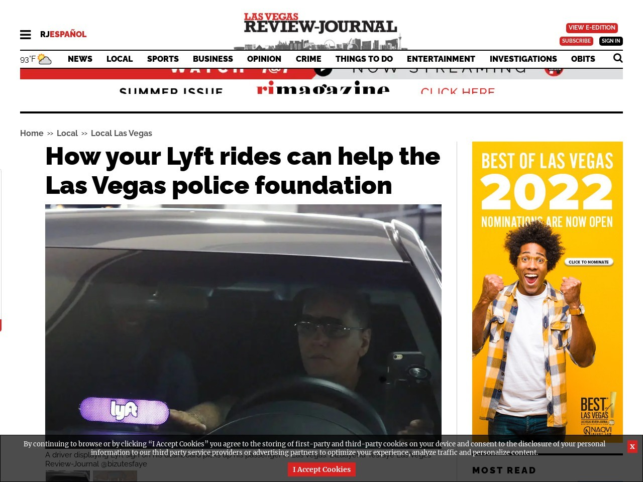 How your Lyft rides can help the Las Vegas police foundation