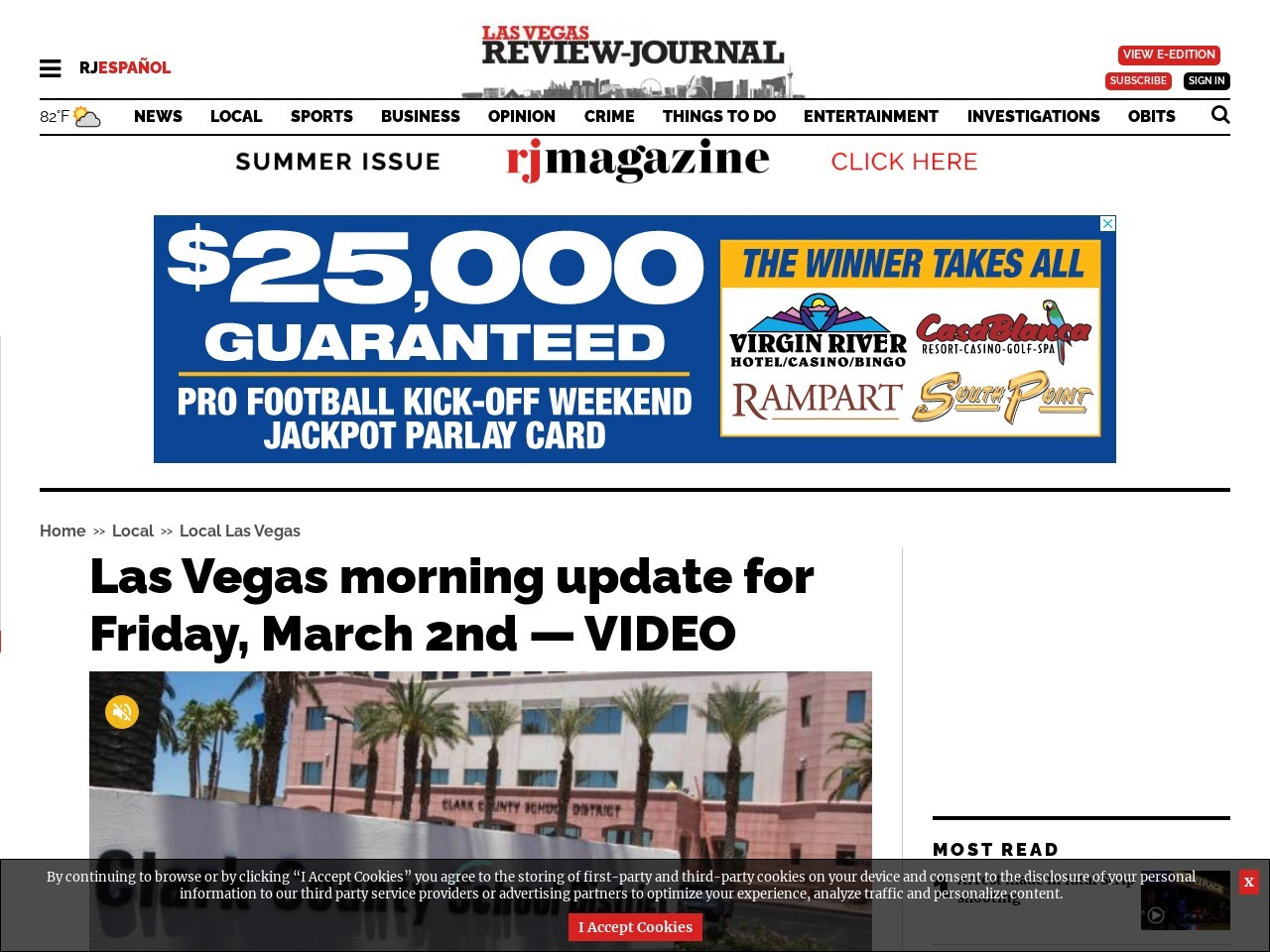 Las Vegas morning udpate for Friday, March 2nd — VIDEO