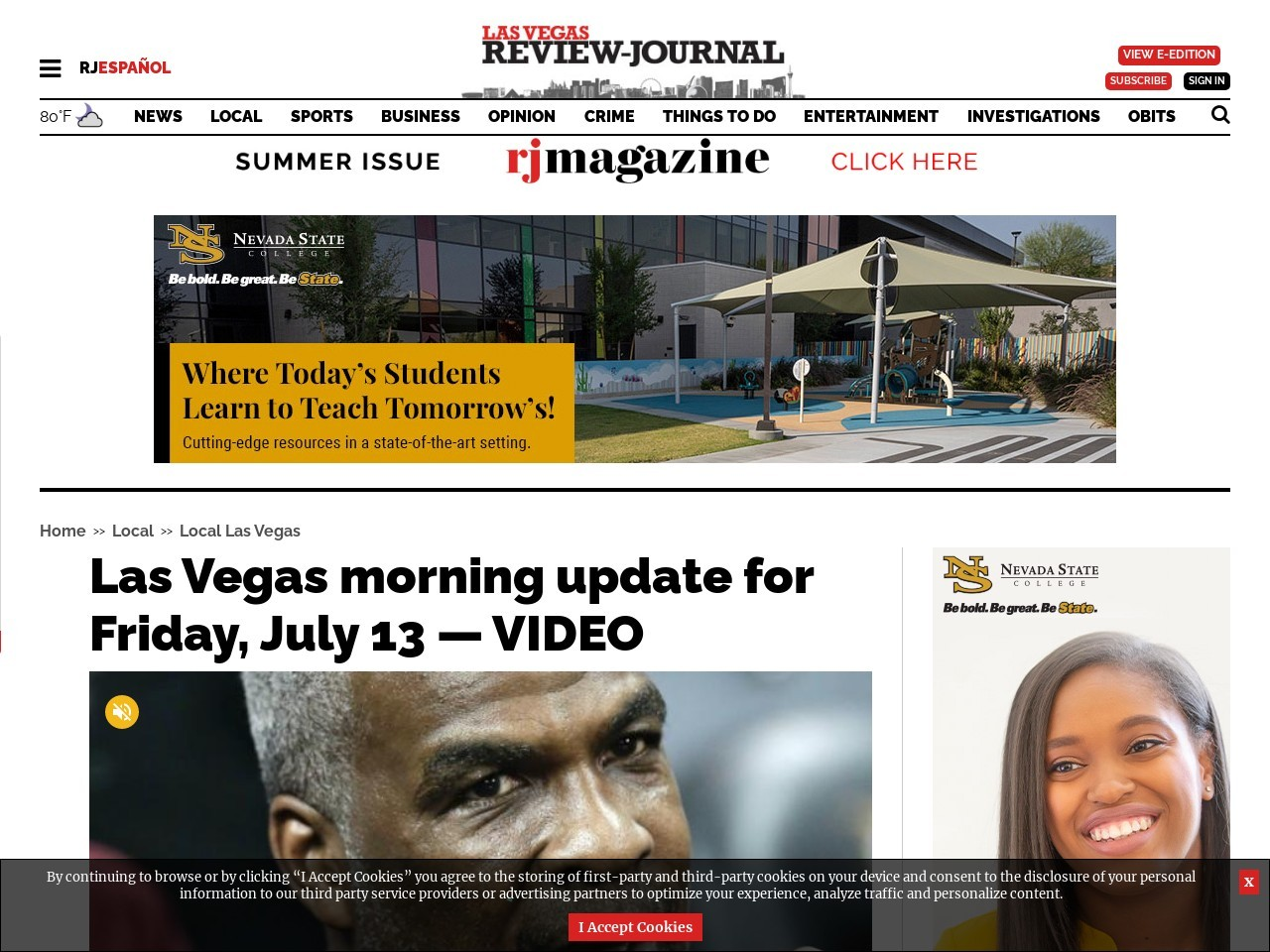 Las Vegas morning update for Friday, July 13 — VIDEO