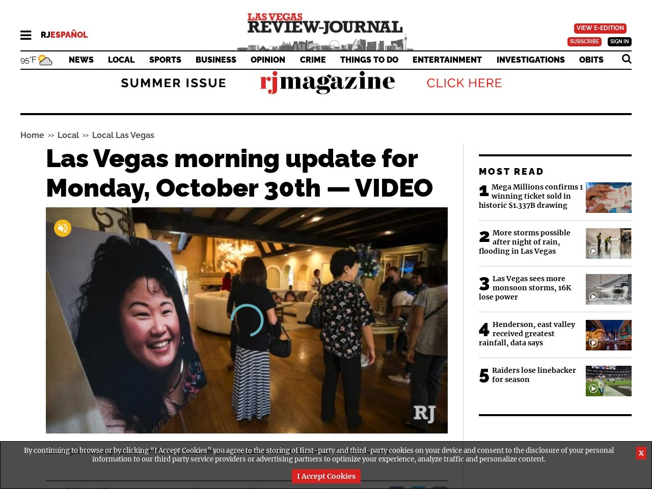 Las Vegas morning update for Monday, October 30th — VIDEO