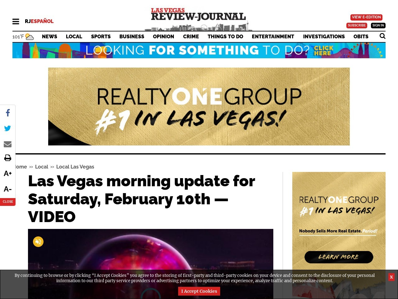 Las Vegas morning update for Saturday, February 10th — VIDEO