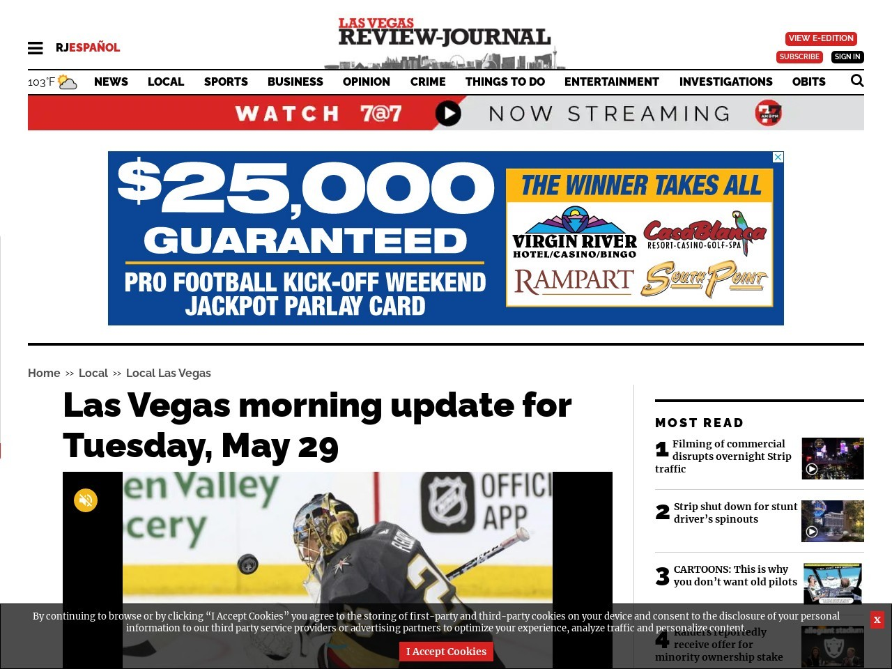 Las Vegas morning update for Tuesday, May 29