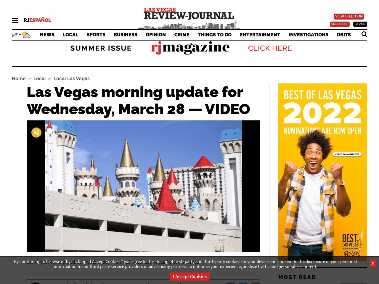Las Vegas morning update for Wednesday, March 28 — VIDEO