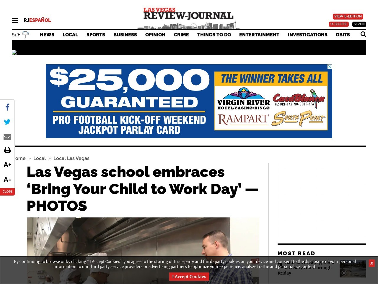 Las Vegas school embraces 'Bring Your Child to Work Day' — PHOTOS