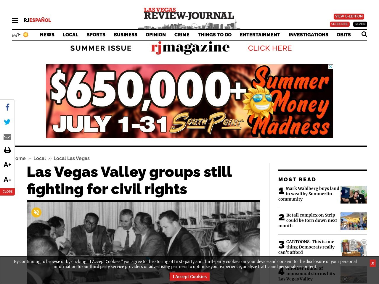 Las Vegas Valley groups still fighting for civil rights